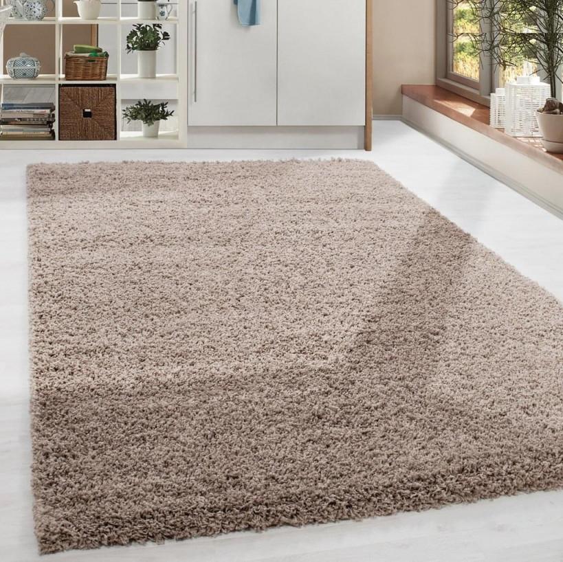 Shaggy Hochflor Langflor Teppich Soft Wohnzimmerteppich Farbe Beige  Einfarbig von Wohnzimmer Teppich 300X400 Photo
