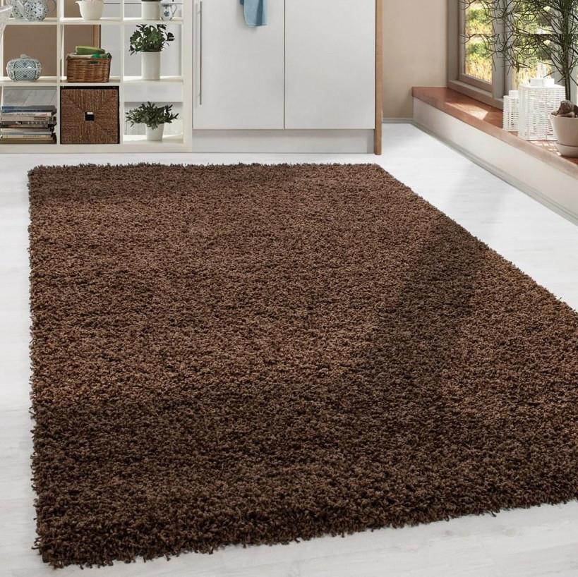 Shaggy Hochflor Langflor Teppich Soft Wohnzimmerteppich Farbe Braun  Einfarbig von Wohnzimmer Teppich Braun Photo