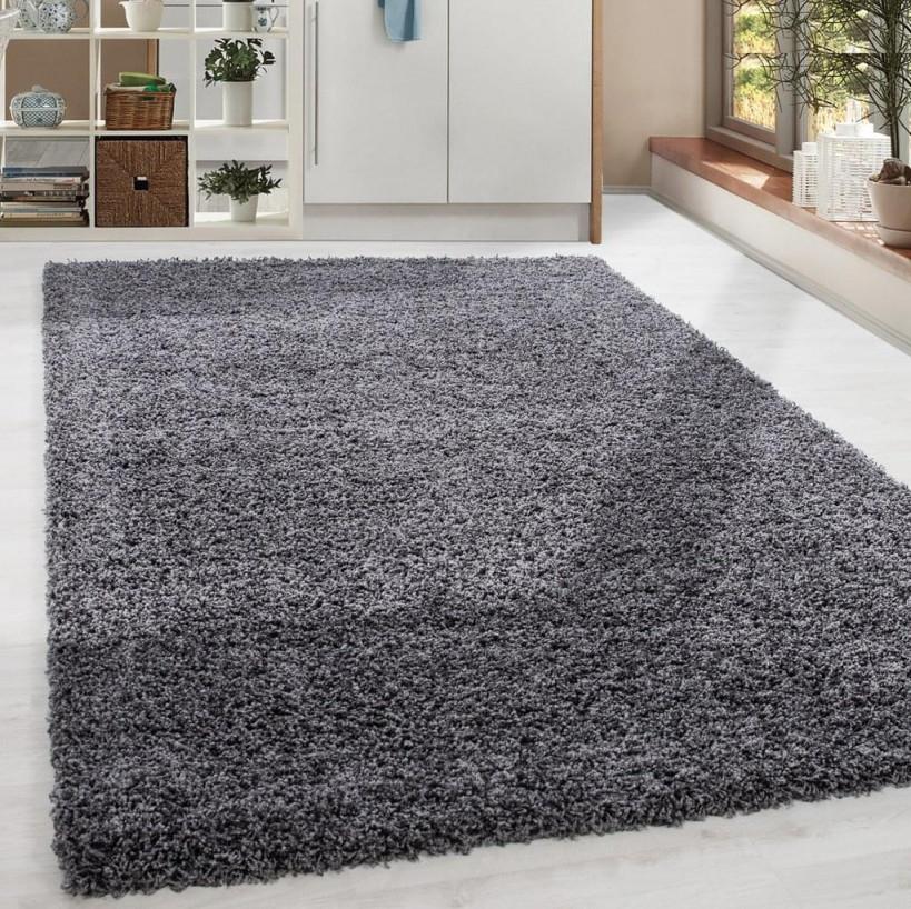 Shaggy Hochflor Langflor Teppich Soft Wohnzimmerteppich Farbe Grau  Einfarbig von Wohnzimmer Teppich 300X400 Photo