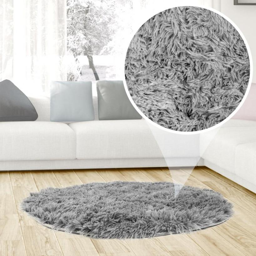 Shaggy Zimmerteppich Rund Waschbar Modern Designe Teppich Für Kinderzimmer von Teppich Wohnzimmer Rund Bild