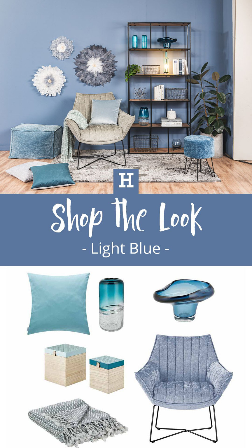 Shop The Look  Light Blue  Möbel Höffner In 2020  Haus von Deko Hellblau Wohnzimmer Photo