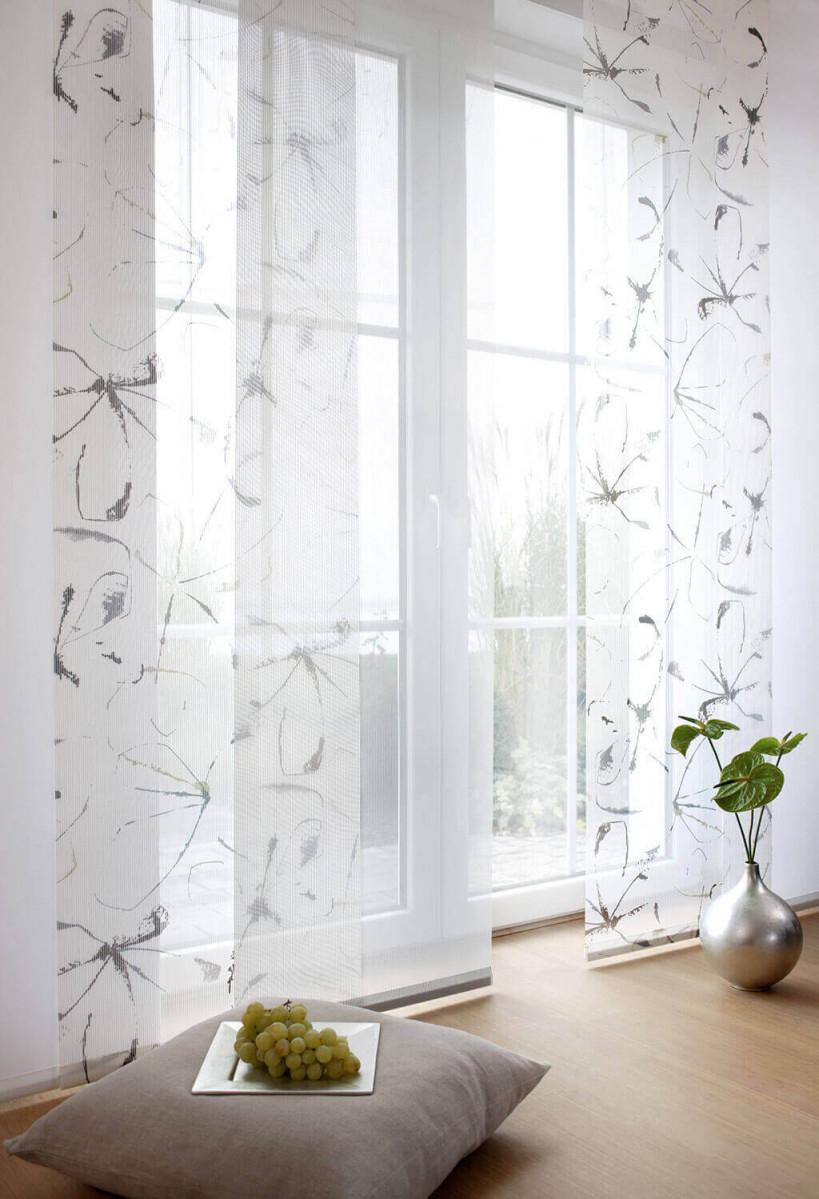 Sichtschutz Im Wohnzimmer  Moderne Plissees Gardinen Und von Leichte Gardinen Wohnzimmer Bild