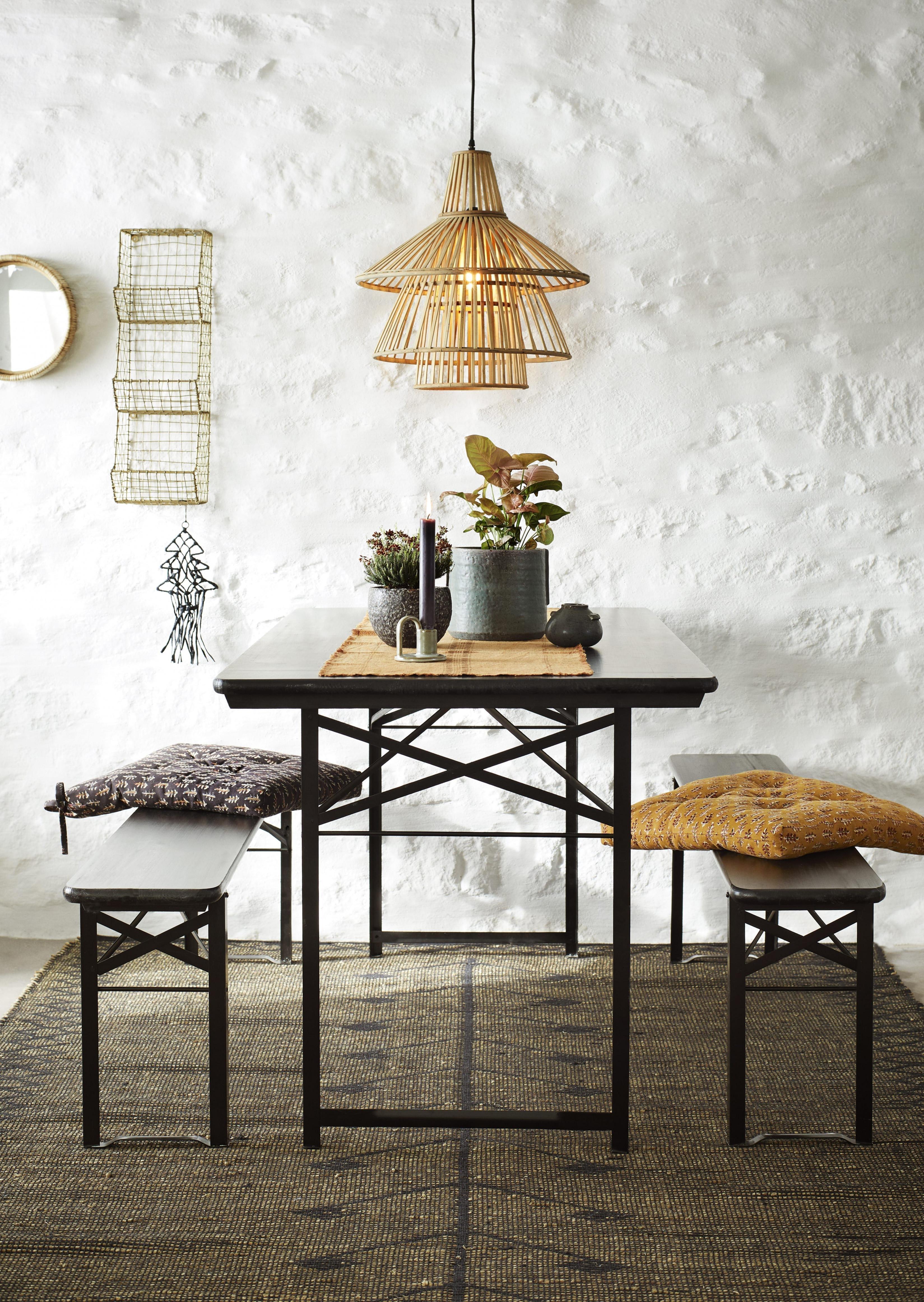 Skandinavische Hängelampe Bambus Von Madam Stoltz Online von Hänge Deko Wohnzimmer Bild