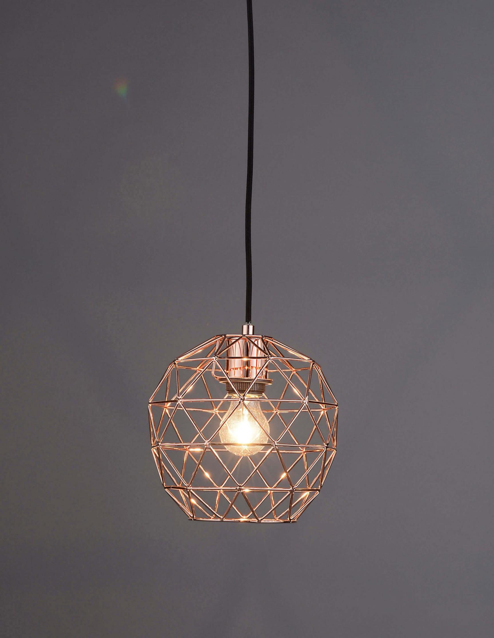 Skelletton Kupferlampe  Lampe Rosegold Lampe Kupfer von Kupfer Lampe Wohnzimmer Photo