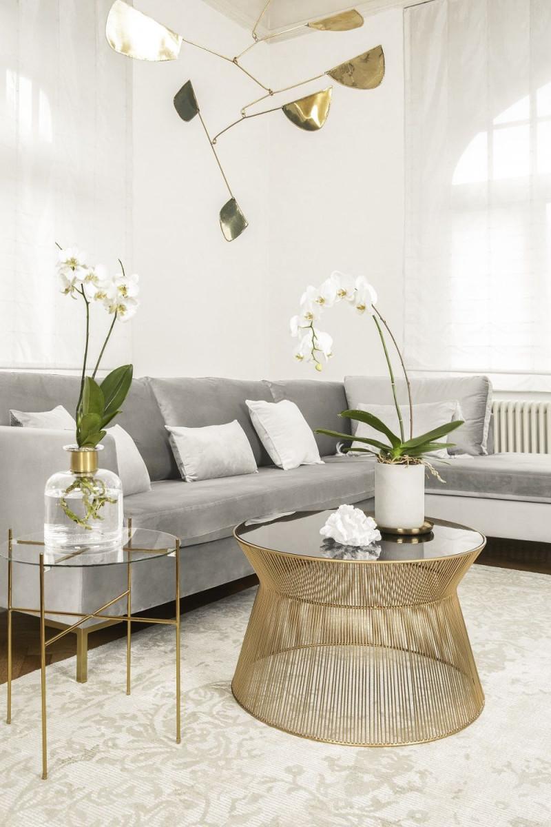 So Funktioniert Der Look Soft Glam Dieser Look Ist Der von Wohnzimmer Deko Gold Bild