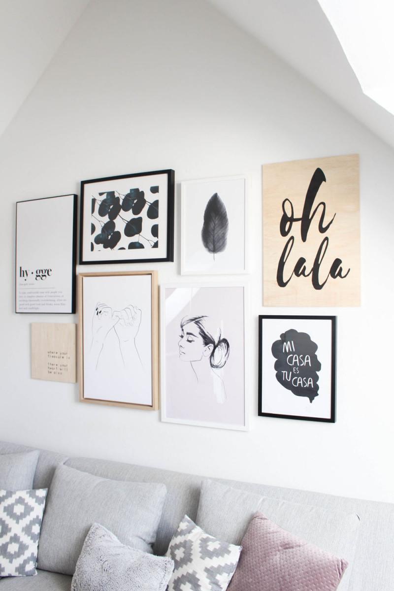 So Kannst Du In 5 Schritten Eine Bilderwand Gestalten von Bilderwand Ideen Wohnzimmer Bild
