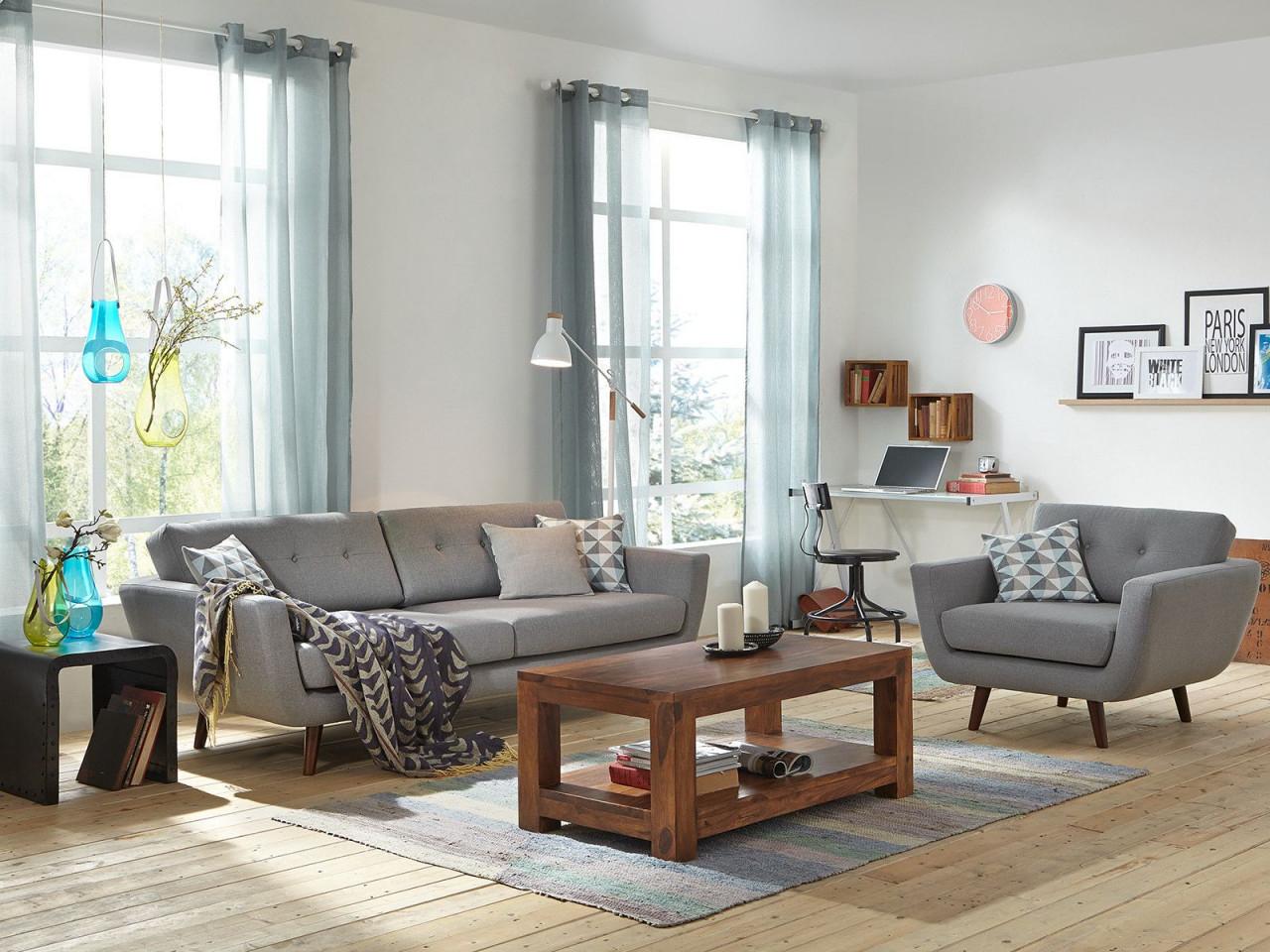 Sofa Grau  Wohnen Graue Möbel Wohnzimmer Einrichten von Wohnzimmer Rechteckig Einrichten Bild