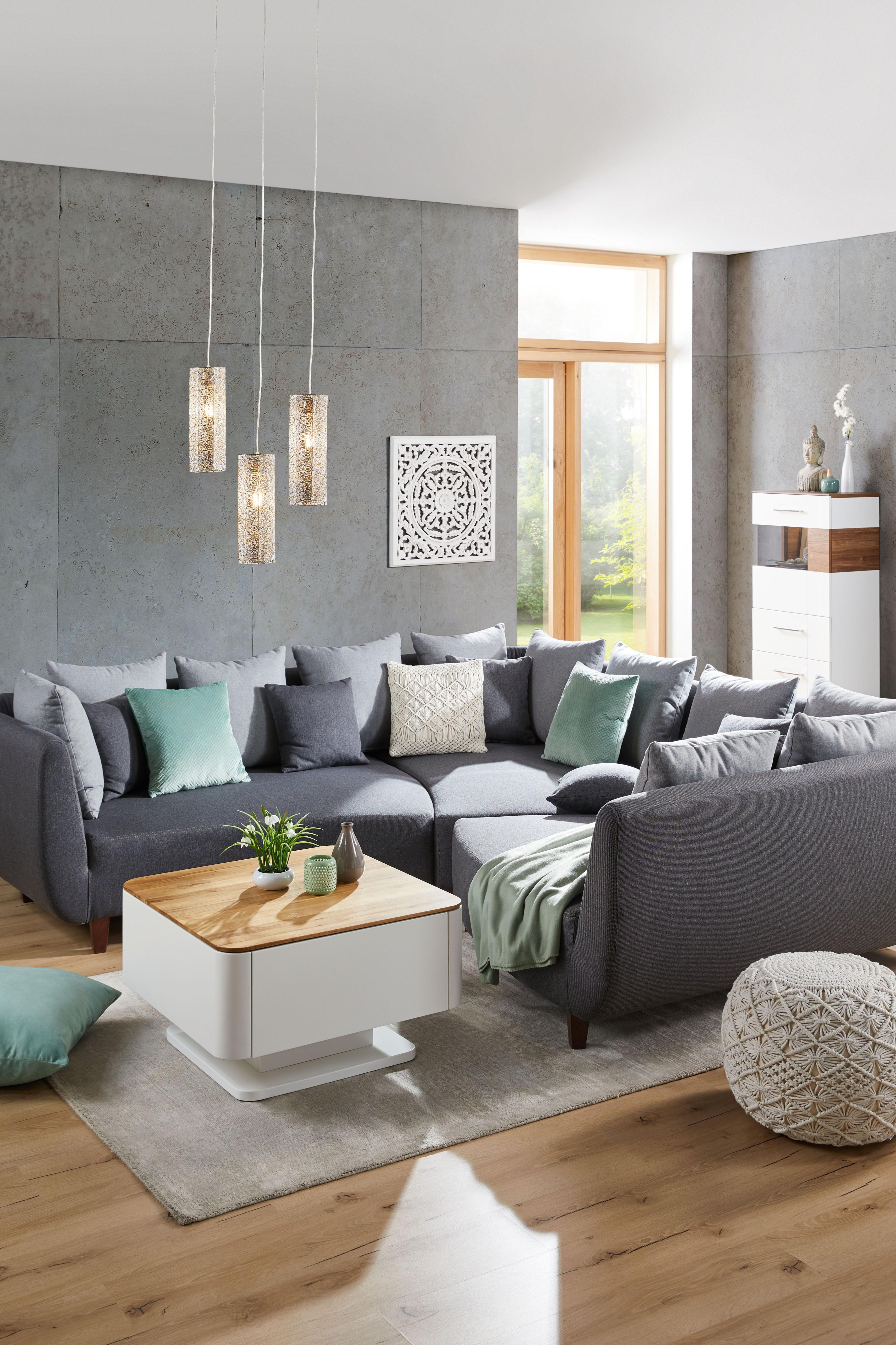 Sofaelement In Grau  Wohnzimmer Ideen Modern Graues Sofa von Sofa Ideen Wohnzimmer Bild