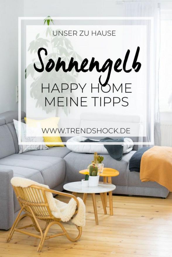 Sonnengelb Im Wohnzimmer  Schwedische Deko Wohnzimmer Wohnen von Deko Gelb Wohnzimmer Photo