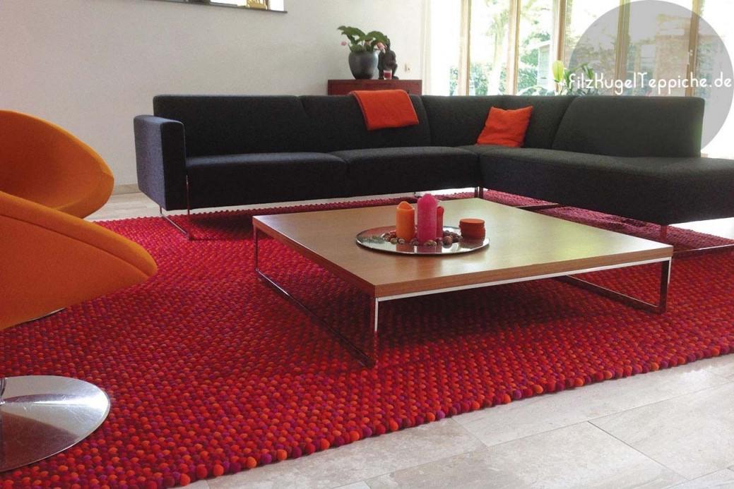 Spezialangefertigter Rechteckiger Teppich von Roter Teppich Wohnzimmer Bild