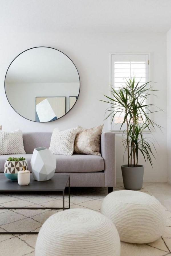 Spiegel Im Wohnzimmer  Modelle Und Schöne Ideen Für Die von Moderne Wandspiegel Wohnzimmer Bild