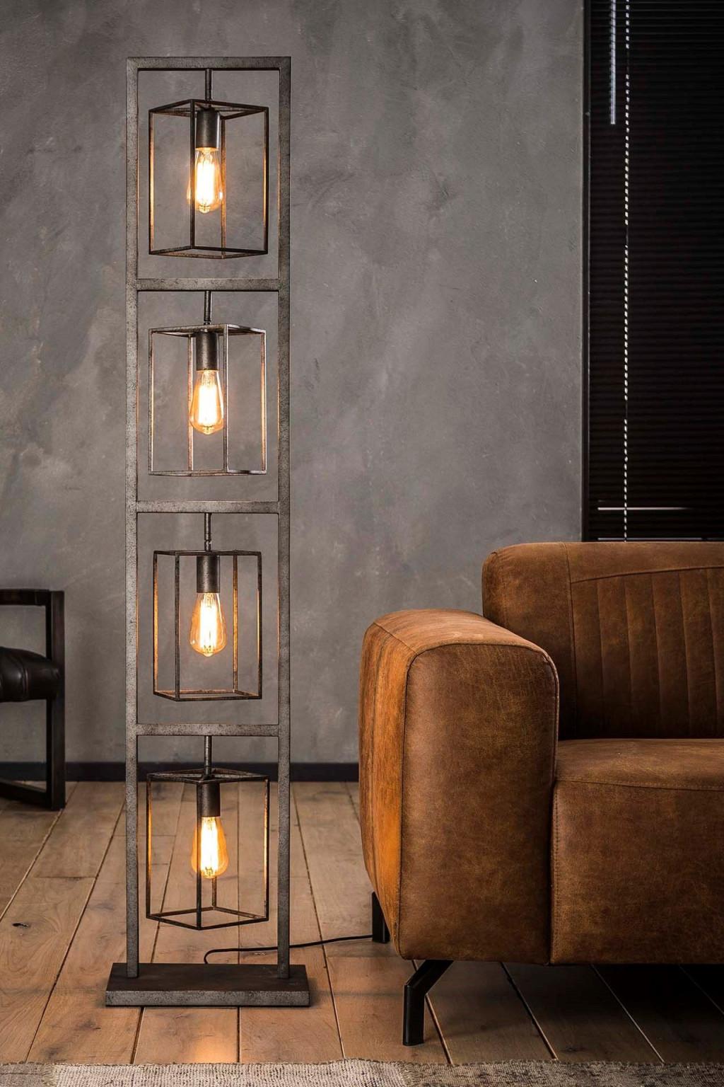 Stehlampe Kube  Stehlampe Wohnzimmer Beleuchtungsideen Und von Wohnzimmer Lampe Industriedesign Photo