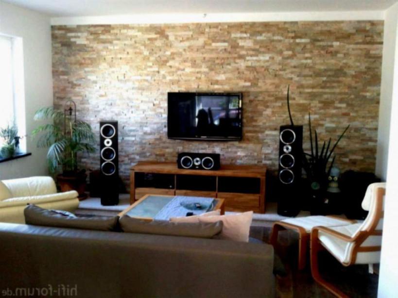 Stein Tapete Wohnzimmer von Tapeten Wohnzimmer Steinoptik Bild