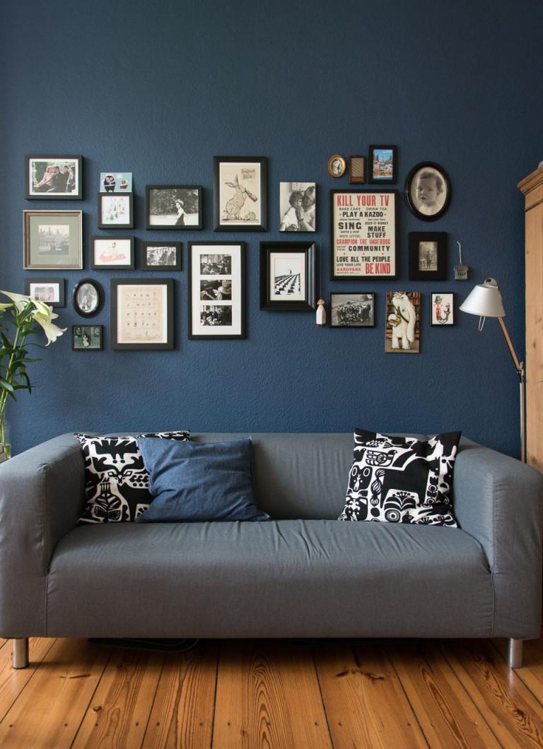 Stiffkey Blue  Blaue Wohnzimmer Elegantes Wohnzimmer Wohnen von Blaue Deko Wohnzimmer Bild