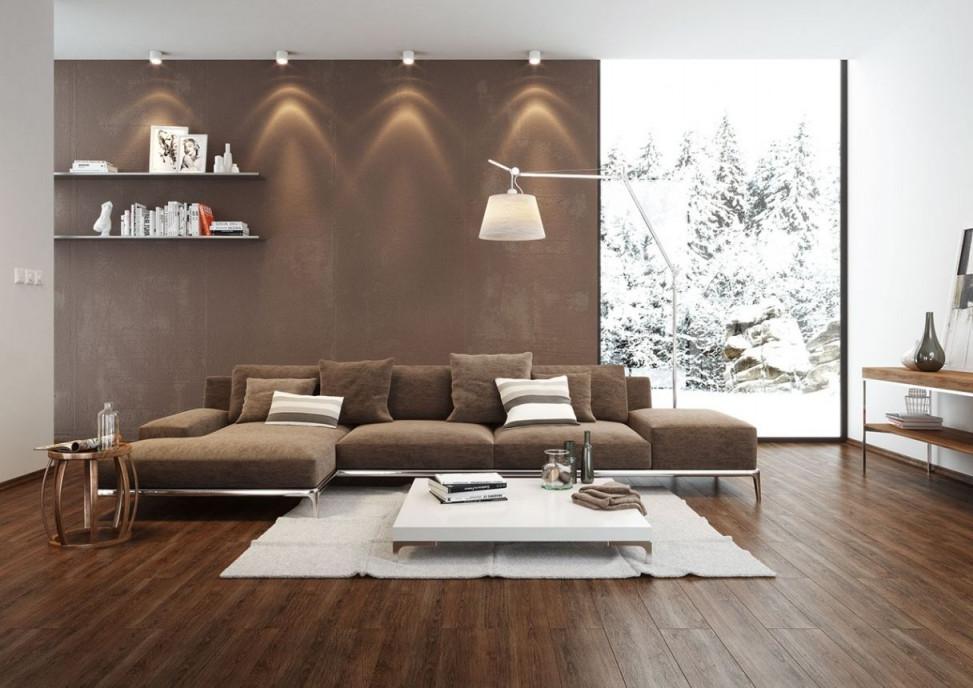 Stilvoll Wohnzimmer Ideen Braun Beige  Wohnzimmer Braun von Tapeten Wohnzimmer Brauntöne Bild