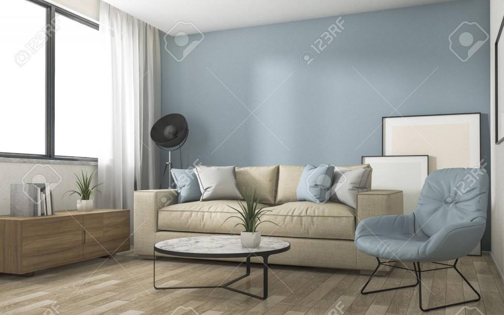 Stock Photo von Blaue Deko Wohnzimmer Bild
