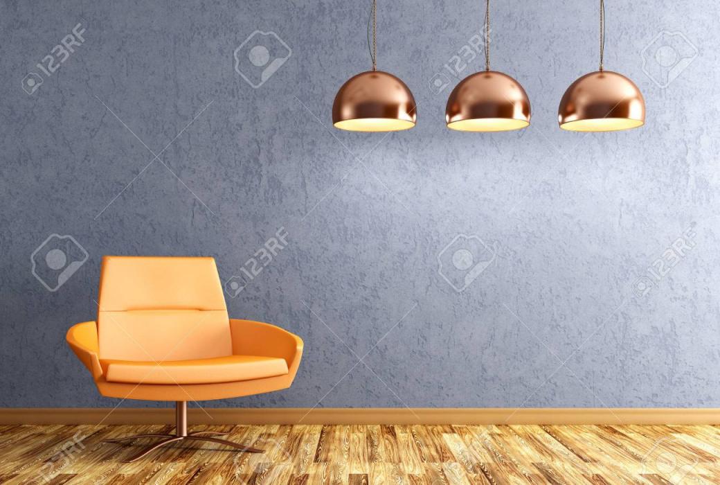 Stock Photo von Kupfer Lampe Wohnzimmer Bild