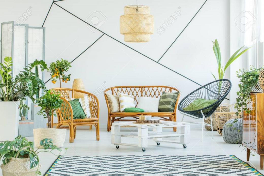 Stock Photo von Moderne Pflanzen Wohnzimmer Bild