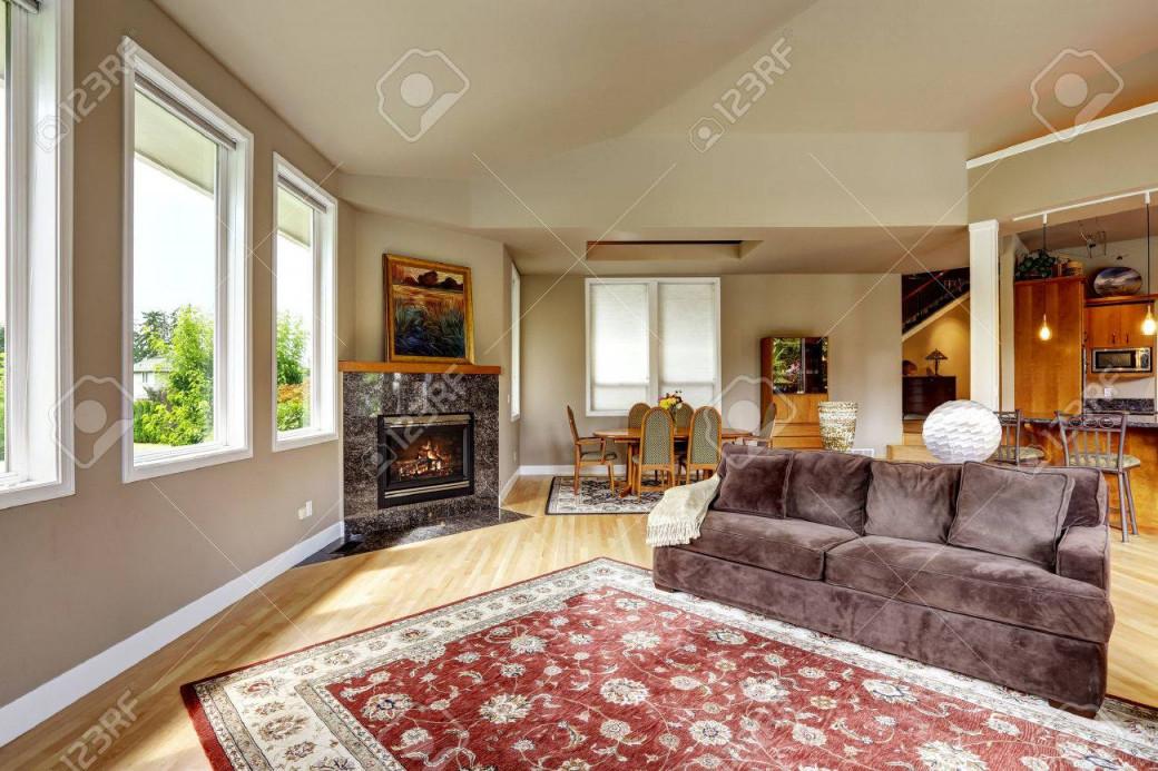 Stock Photo von Roter Teppich Wohnzimmer Bild