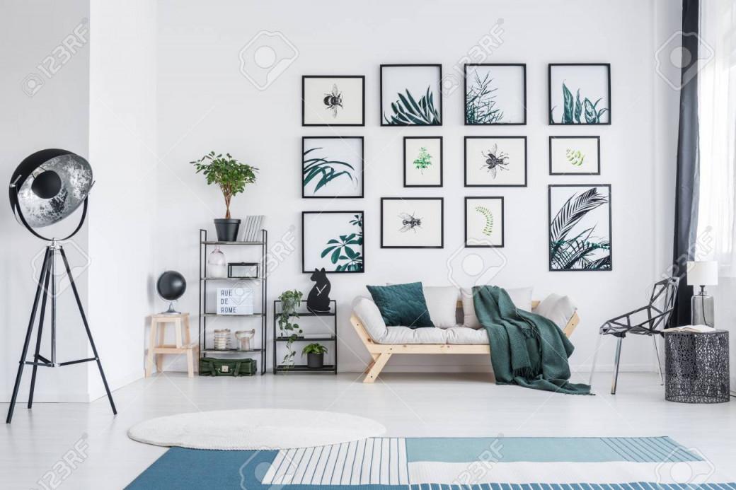 Stock Photo von Weisser Teppich Wohnzimmer Bild