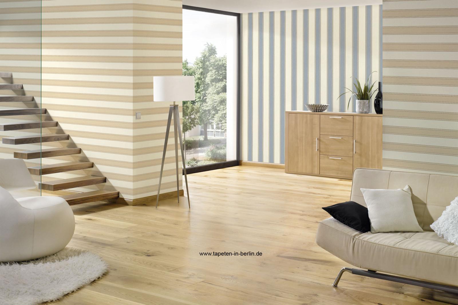 Streifentapeten Tapeten Mit Breiten U Schmalen Streifen von Streifen Tapeten Wohnzimmer Bild