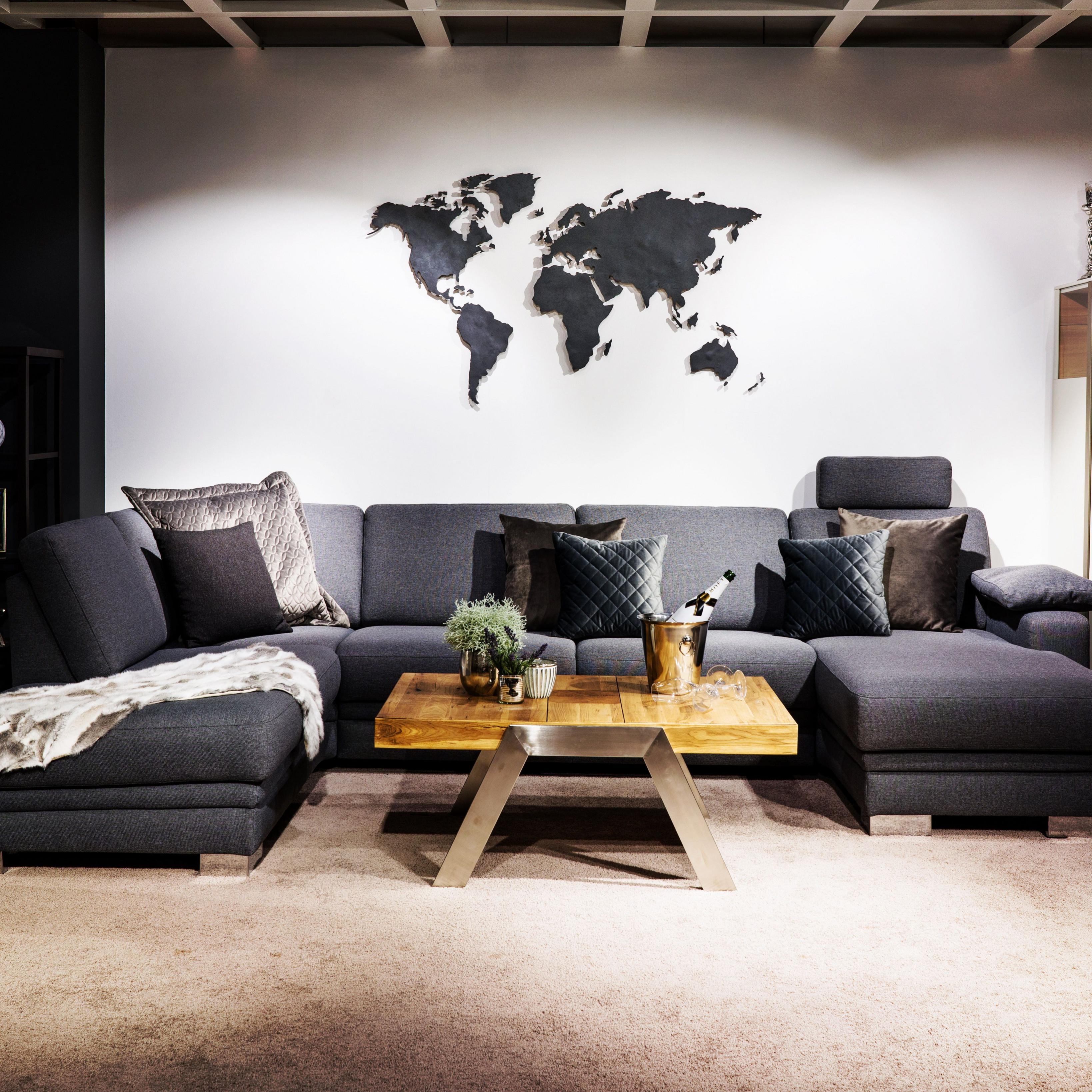 Stylediewandan Weltkarte Schiefer Wanddekoration von Mehrteilige Bilder Wohnzimmer Photo