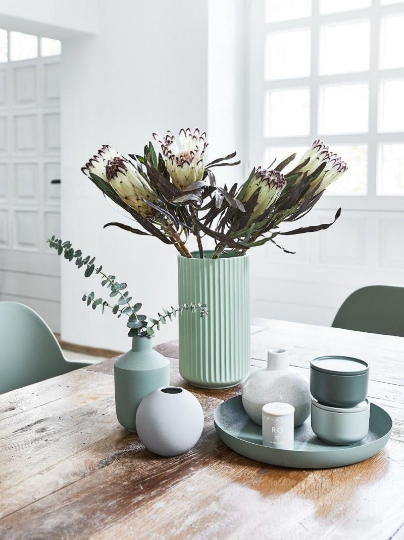 Summer Vibes Die Vase The Lyngby Im Frischen Mint Sorgt Für von Mint Deko Wohnzimmer Photo