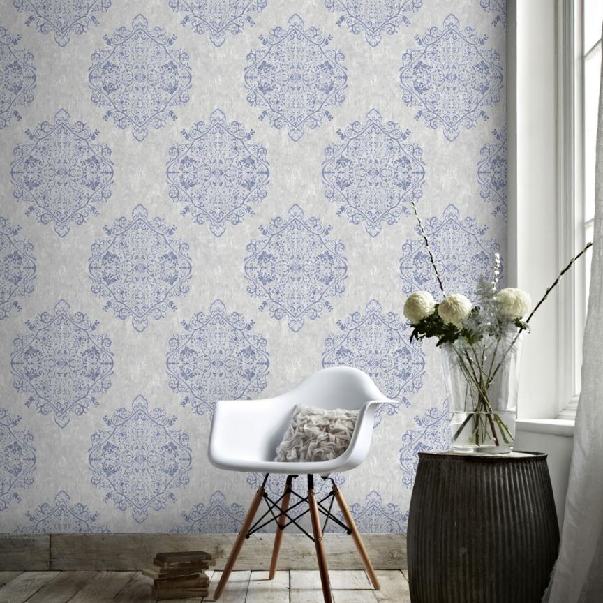 Superfresco Easy  Vliestapete Marrakesch  Graublau  10M von Blaue Tapeten Wohnzimmer Photo