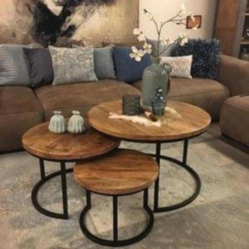 Table Set 3 Huiskamerindustrieel Set In 2020 von Deko Set Wohnzimmer Bild