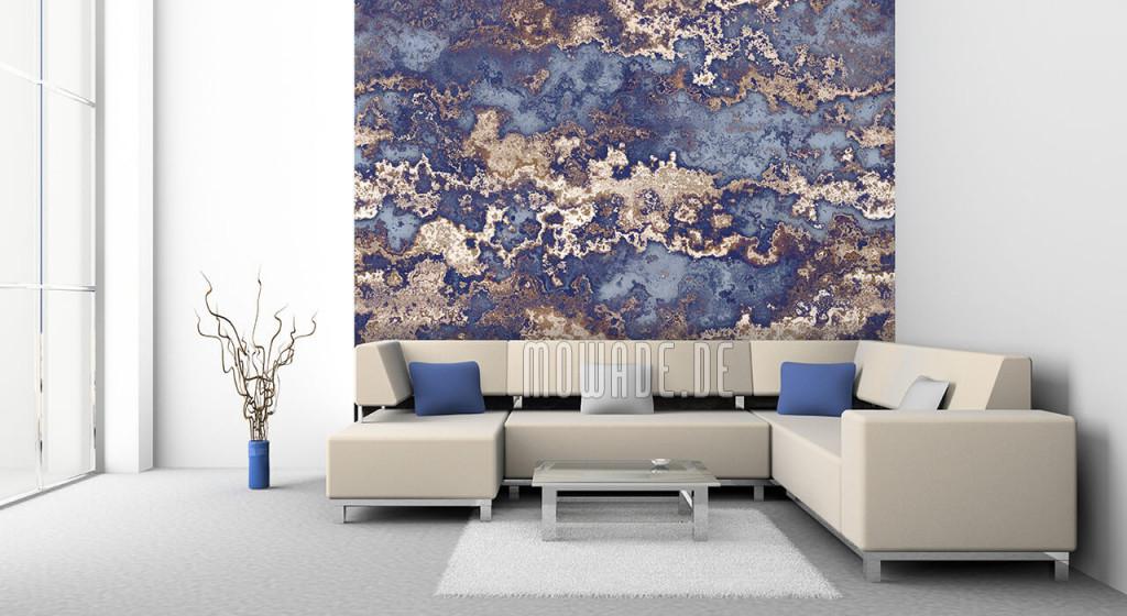Tapeten Blau – Design Von Mowade® von Blaue Tapeten Wohnzimmer Photo