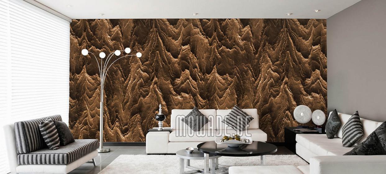 Tapeten Braun – Design Von Mowade® von Tapeten Wohnzimmer Brauntöne Bild