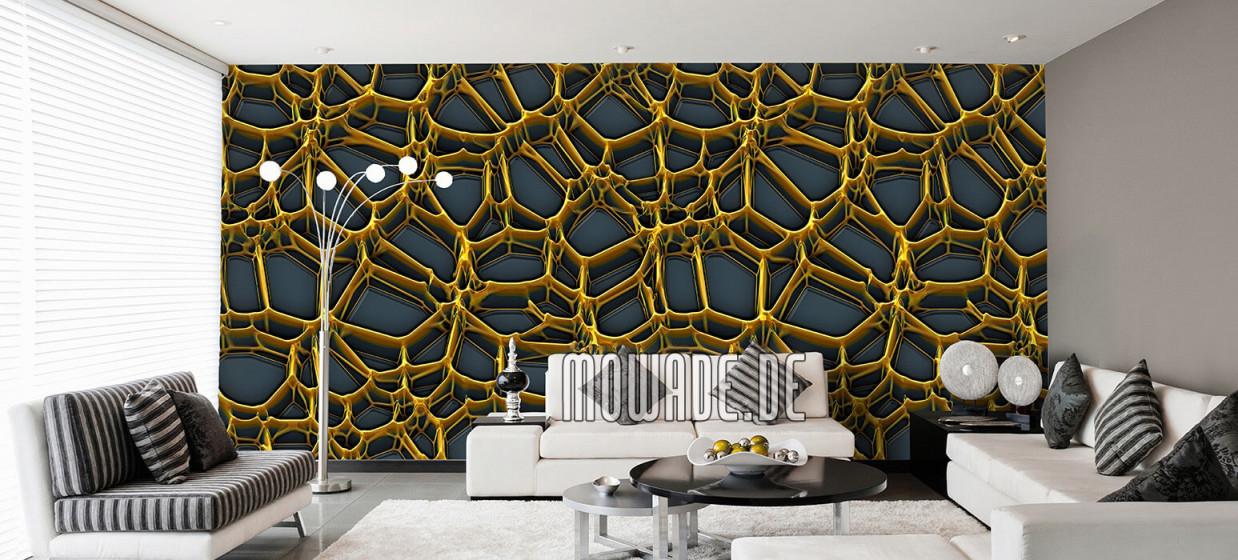 Tapeten Gold – Design Von Mowade® von Edle Tapeten Wohnzimmer Bild