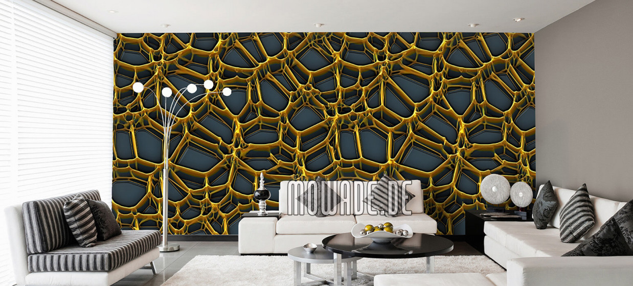 Tapeten Gold – Design Von Mowade® von Stylische Tapeten Wohnzimmer Photo