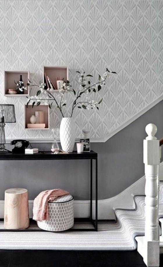 Tapeten Ideen Für Eine Ausgefallene Wandgestaltung  Today von Tapeten Ideen Wohnzimmer Grau Photo