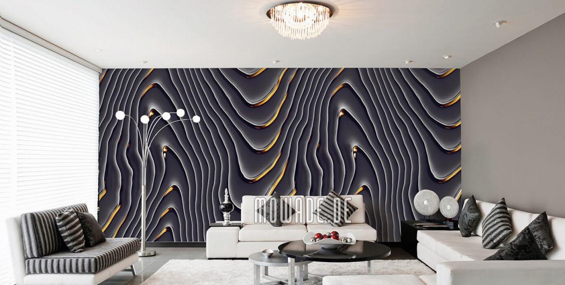 Tapeten Schwarz – Design Von Mowade® von Tapeten Design Wohnzimmer Bild