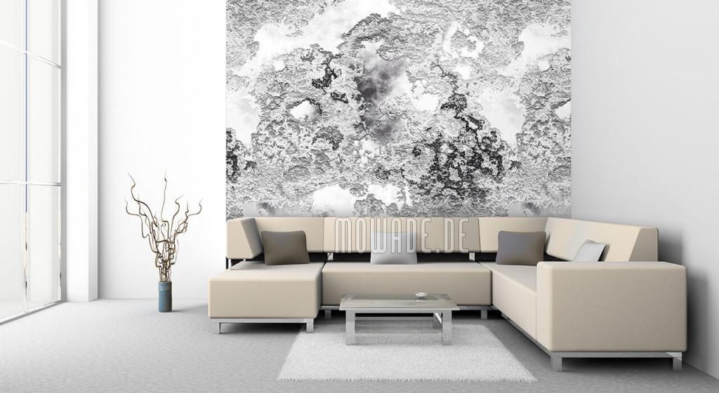 Tapeten Silber Grau Schwarzweiß von Tapeten Wohnzimmer Modern Grau Bild