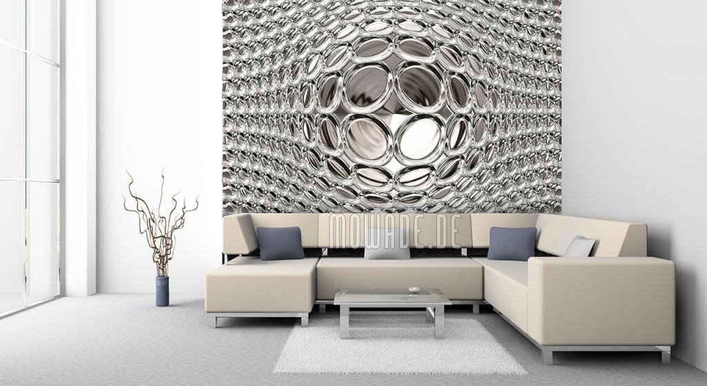 Tapeten Weiß – Design Von Mowade® von Ausgefallene Tapeten Wohnzimmer Bild