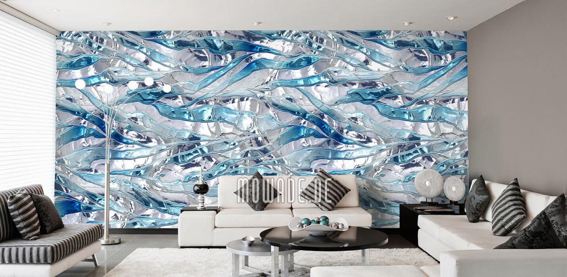 Tapeten Weiß – Design Von Mowade® von Stylische Tapeten Wohnzimmer Bild