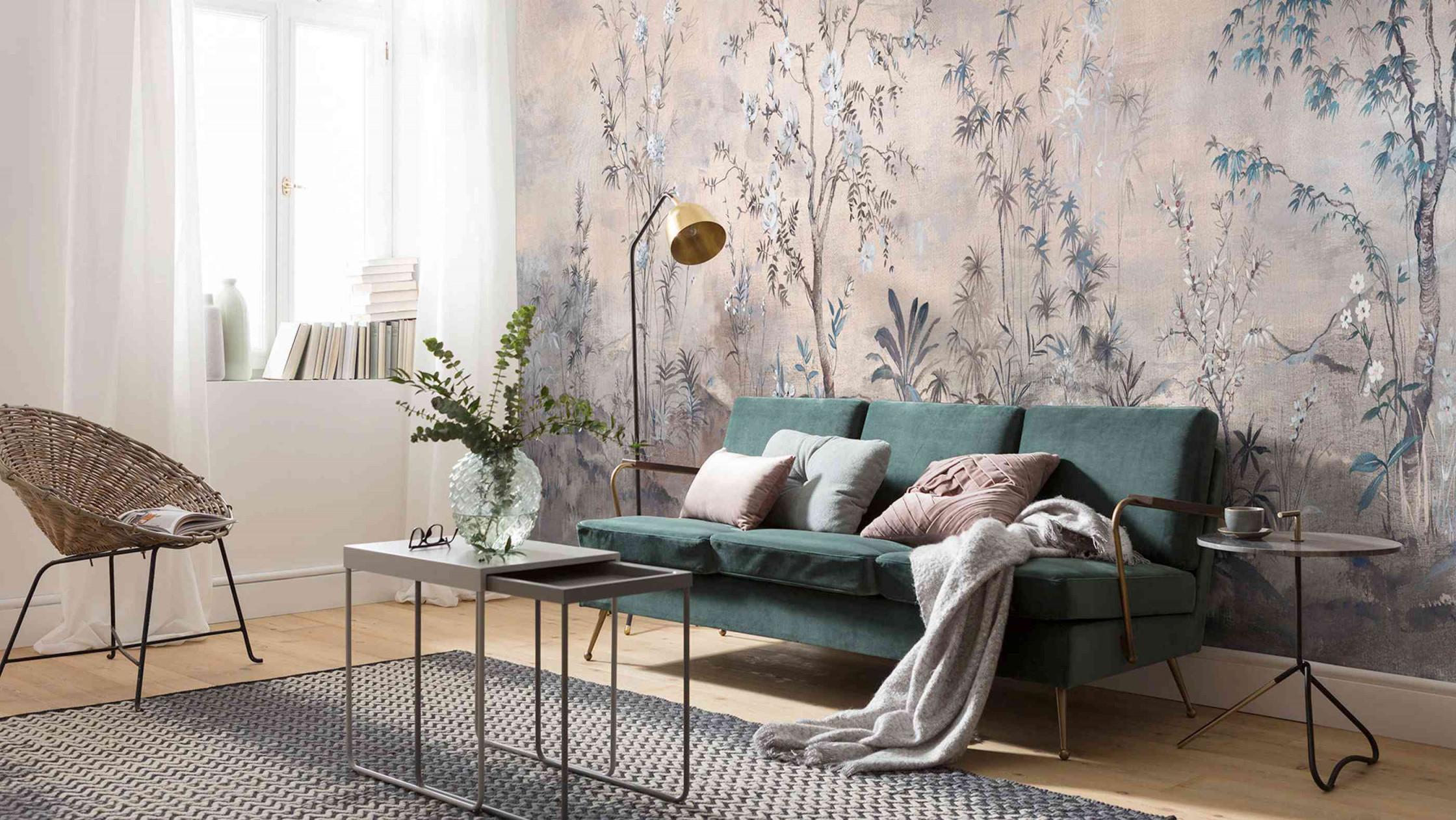 Tapetentrends 2020 So Sehen Die Tapeten Der Zukunft Aus von Tapeten Farben Wohnzimmer Photo