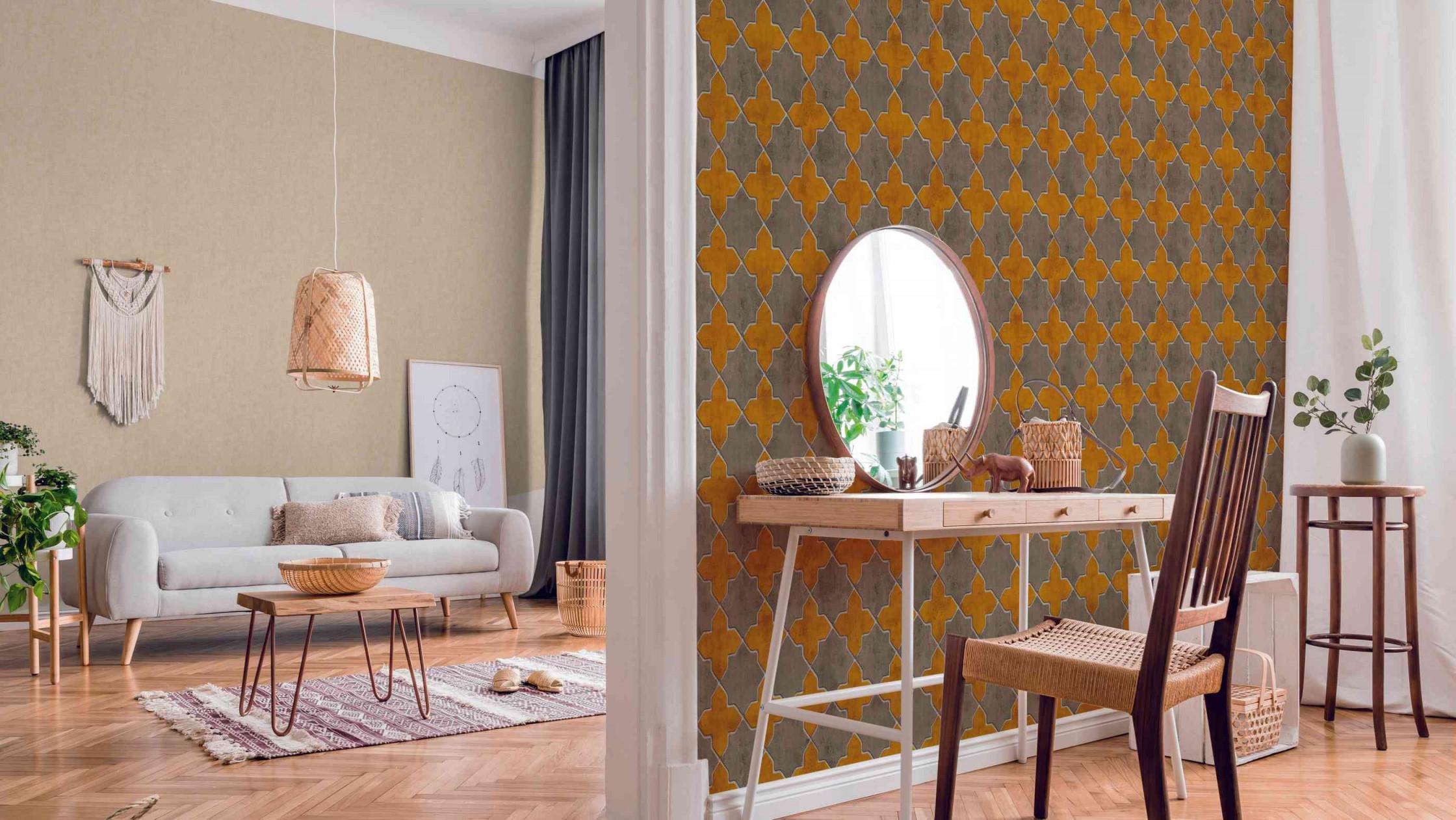 Tapetentrends 2020 So Sehen Die Tapeten Der Zukunft Aus von Tapeten Fürs Wohnzimmer Bild