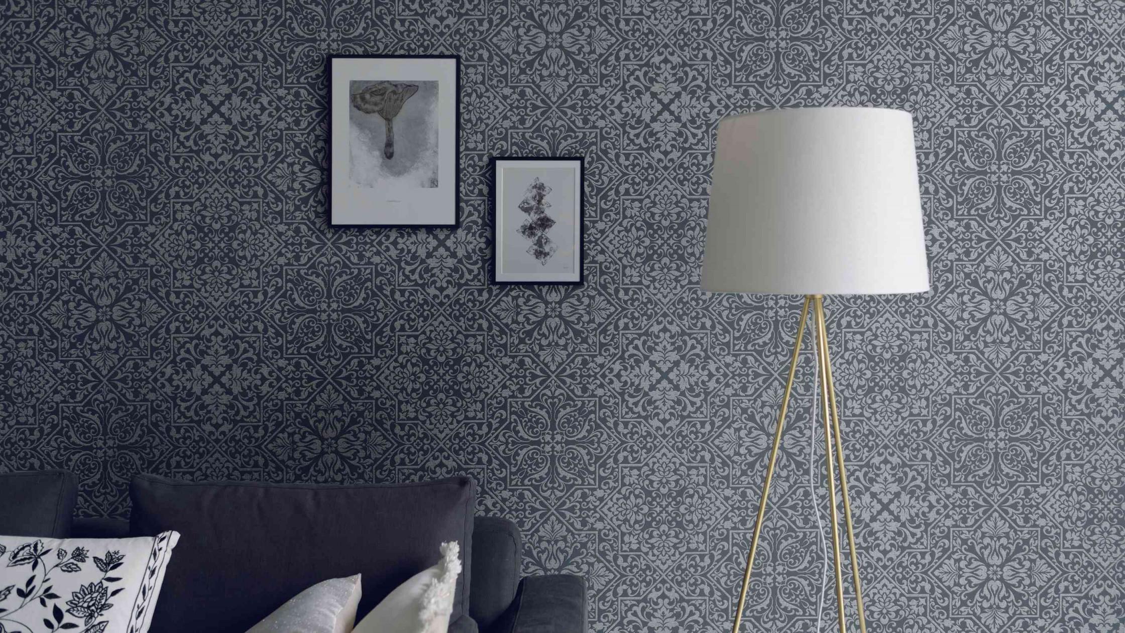Tapetentrends 2020 So Sehen Die Tapeten Der Zukunft Aus von Tapeten Im Wohnzimmer Bild
