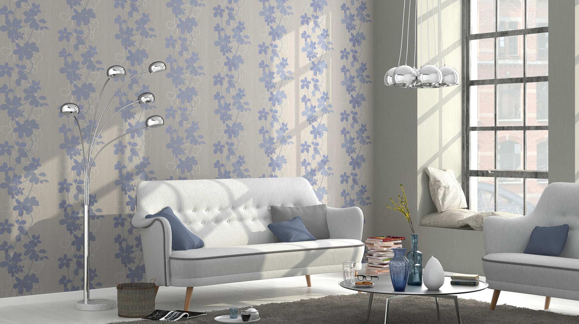 Tapetentrendsopheliaerismann (8)  Erismann  Cie Gmbh von Blaue Tapeten Wohnzimmer Photo
