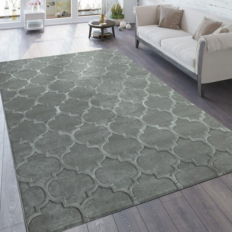 Teppich 3Deffekt Marokkanisches Muster Grau von 3D Teppich Wohnzimmer Photo