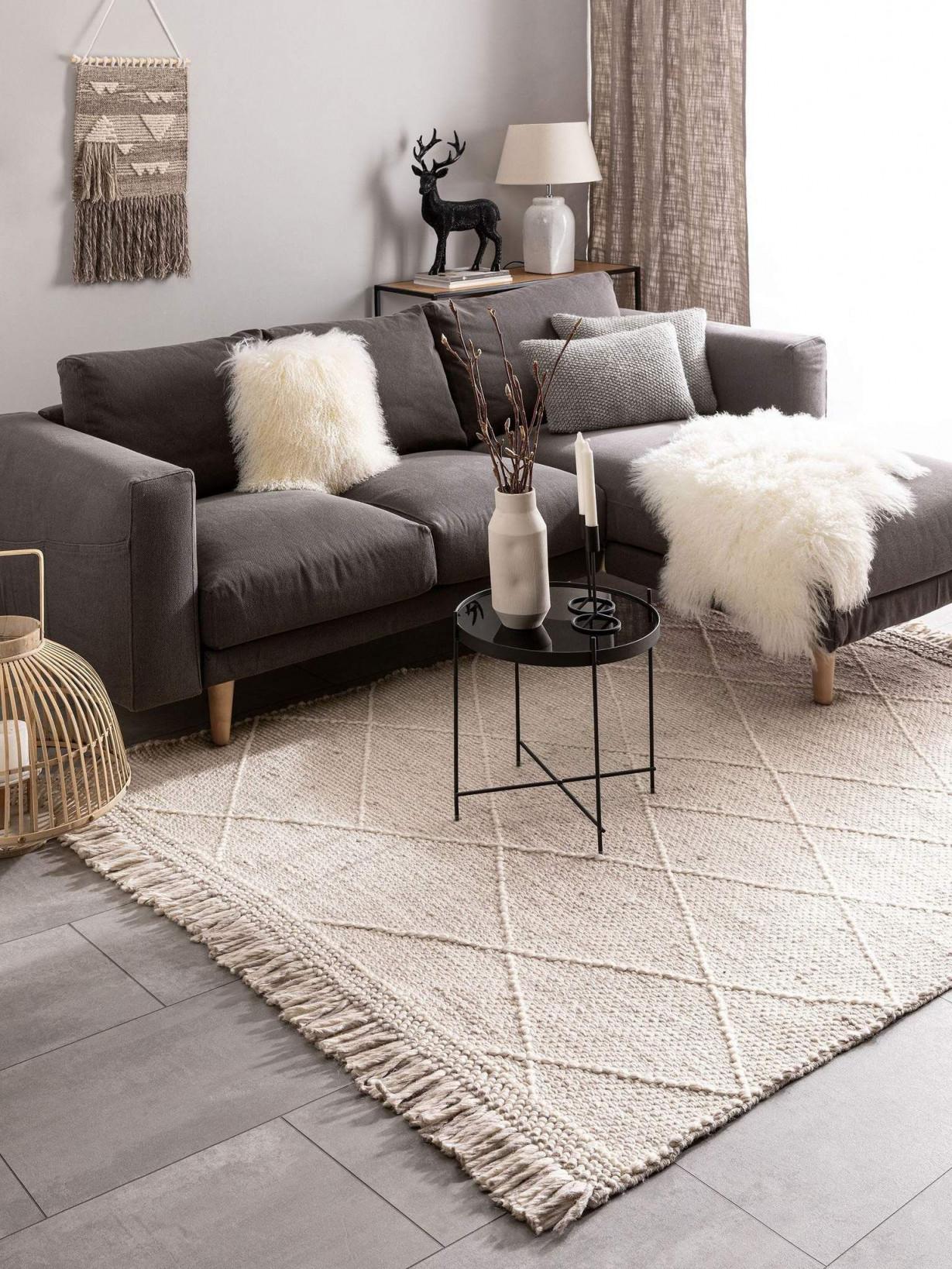 Teppich Daphne Wollteppich Beige – Carpetz In 2020 von Kleiner Teppich Wohnzimmer Photo