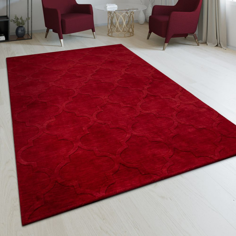 Teppich Handgefertigt Marokkanisches Design von Roter Teppich Wohnzimmer Photo