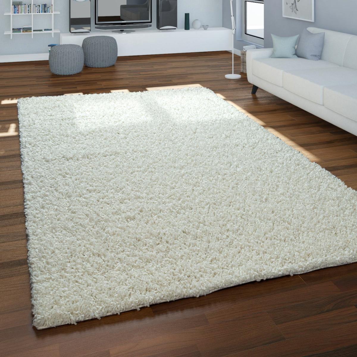Teppich Hochflor Shaggy Beige Wohnzimmer Schlafzimmer Behaglich Weich Robust von Wohnzimmer Teppich Hochflor Bild