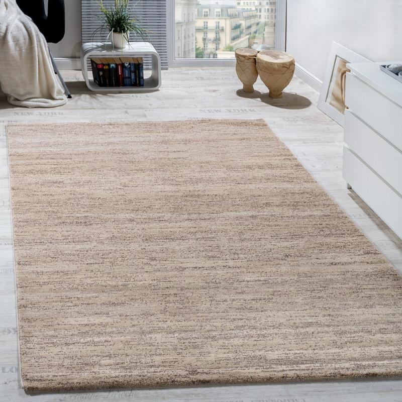 Teppich Kurzflor Modern Gemütlich Preiswert Mit Melierung Beige Creme  Braun Grösse120X170 Cm von Wohnzimmer Teppich Braun Beige Bild