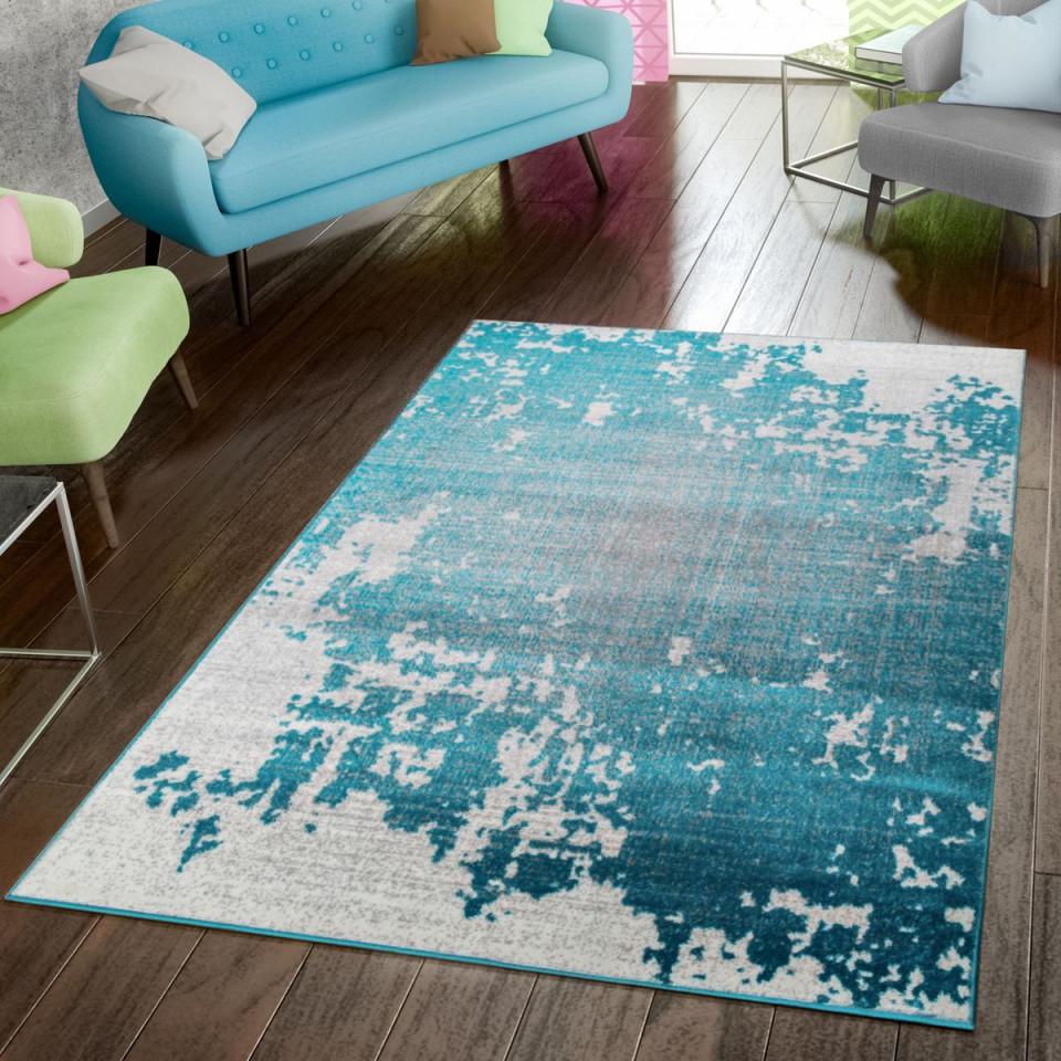Teppich Modern Preiswert Wohnzimmer Teppiche Abstrakt von Teppich Wohnzimmer Türkis Bild
