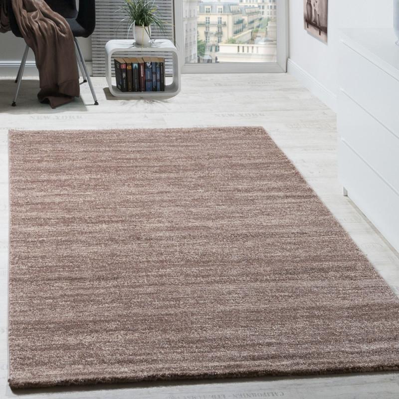 Teppich Modern Wohnzimmer Kurzflor Beige von Teppich Pflegeleicht Wohnzimmer Bild