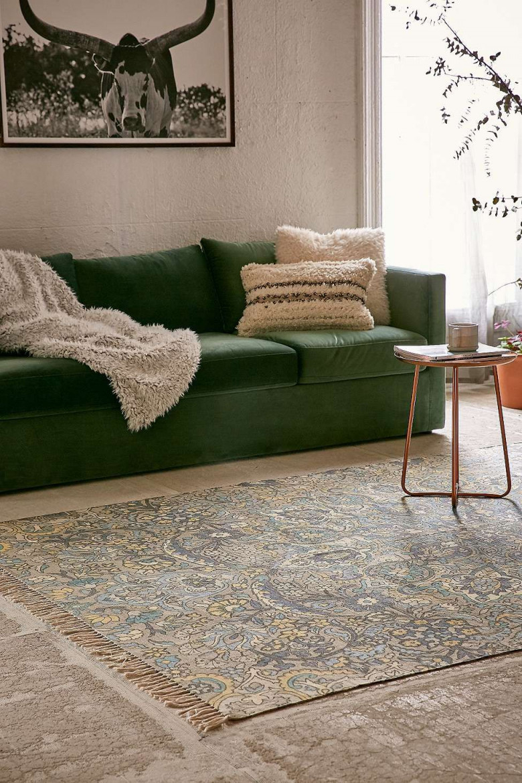 """Teppich """"Neva"""" In Blau Mit Medaillondesigns 5 X 7 Fuß von Grüner Teppich Wohnzimmer Photo"""